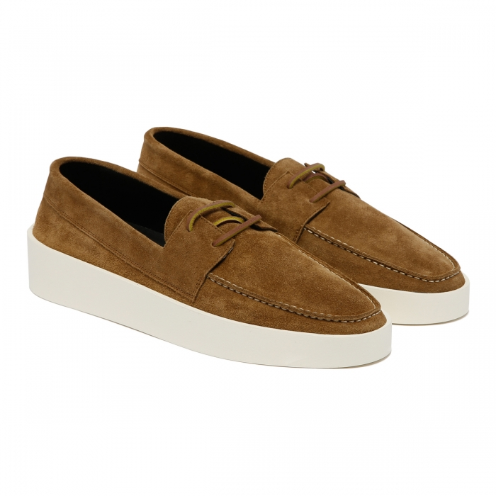 FEAR OF GOD Brown Suede Boat Sneakers FG80-009SUE 6