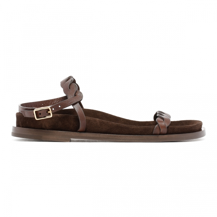 HAZY Brown Leather Sandals FD2021 2