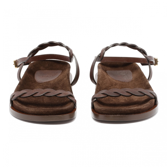 HAZY Brown Leather Sandals FD2021 3