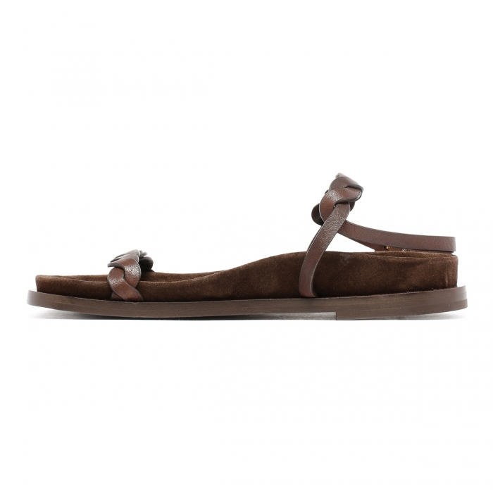HAZY Brown Leather Sandals FD2021 4