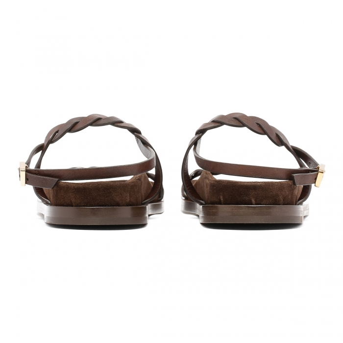HAZY Brown Leather Sandals FD2021 5