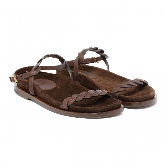HAZY Brown Leather Sandals FD2021 6