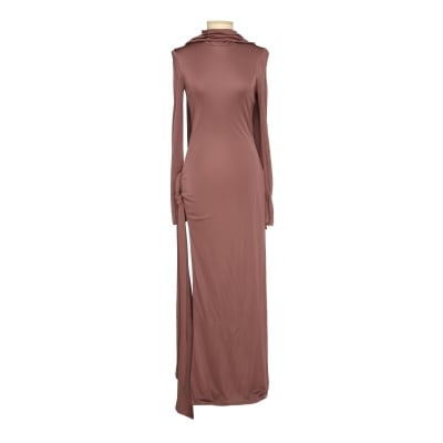 Camille brown knotted dress