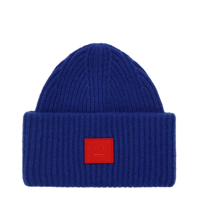 Pansy Face Navy Beanie