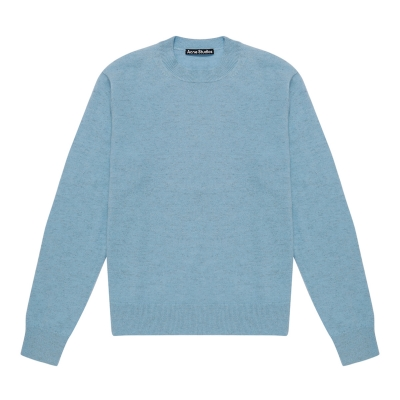 Smiley Patch Blue Sweater