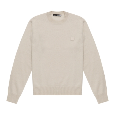 Smiley Patch Beige Sweater