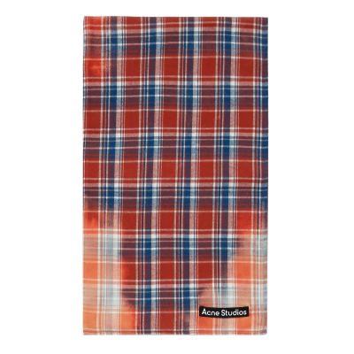 Pink Flannel Check Scarf