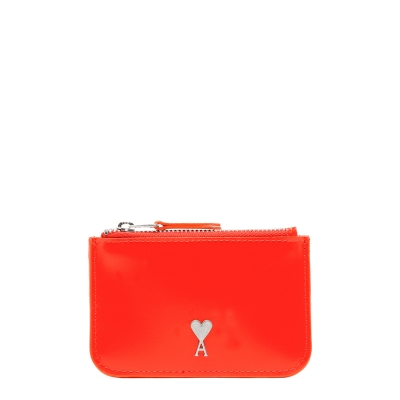 Red Zipped Cards Holder