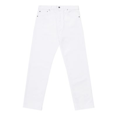 Fit 5 Pockets White Jeans