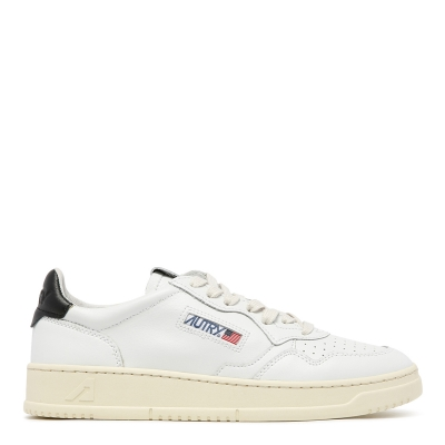 White Leather Low-Top Skeakers