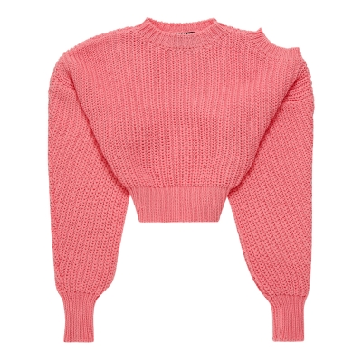 Pink Wool Cropped Sweater