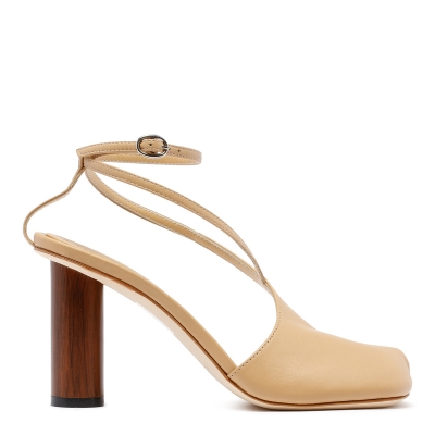 Beige Leather Sandals