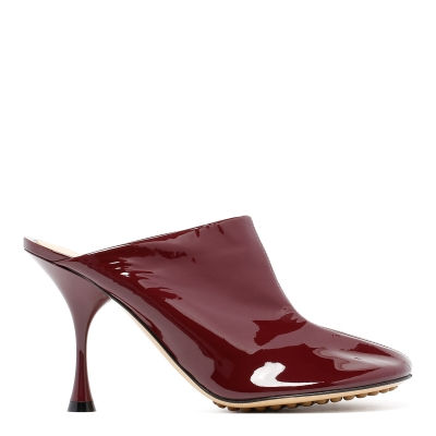 Red Patent Leather Mules