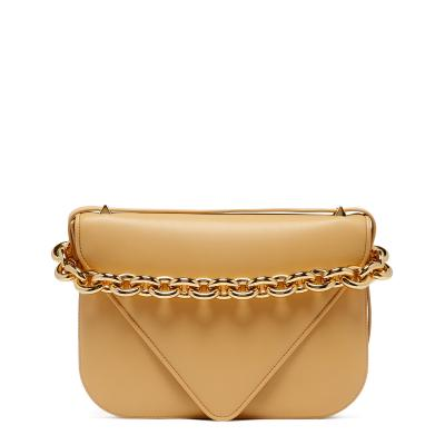 Almond-gold Mount Leather Bag
