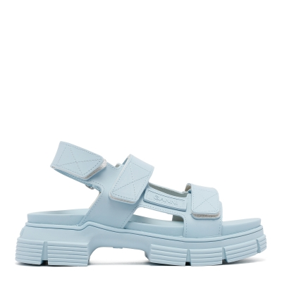 Light Blue Recycled Rubber Sandals