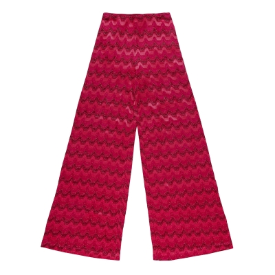 Pink Flared Cotton Pants