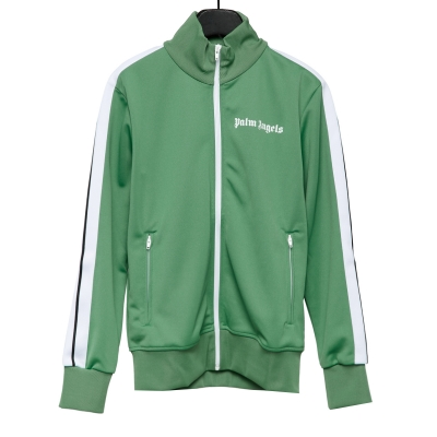 Green Track Jacket With Logo