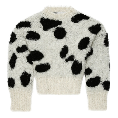 White Mohair Cropped Sweater