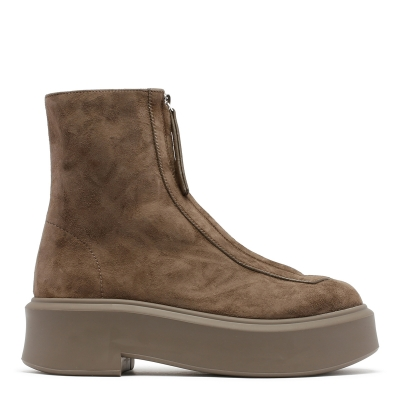 Ash Suede Leather Zipped Boots