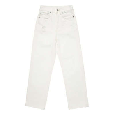 Mece White Straight Fit Jeans