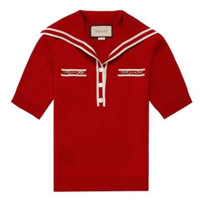 Red Wool Polo