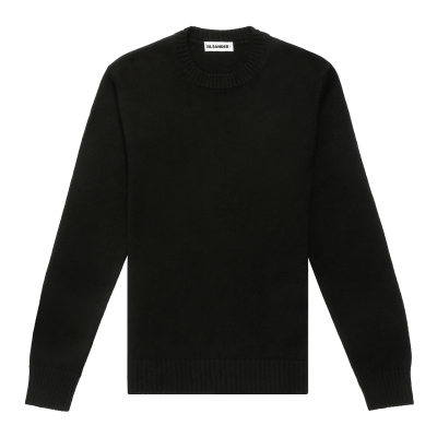 Black Knitted Cotton Sweater
