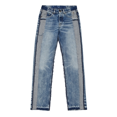 Blue Spliced recycled jeans