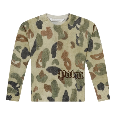 Green Camouflage Sweater