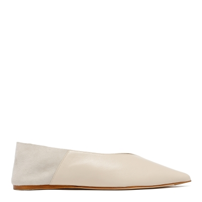White Amelie Babouche Slippers