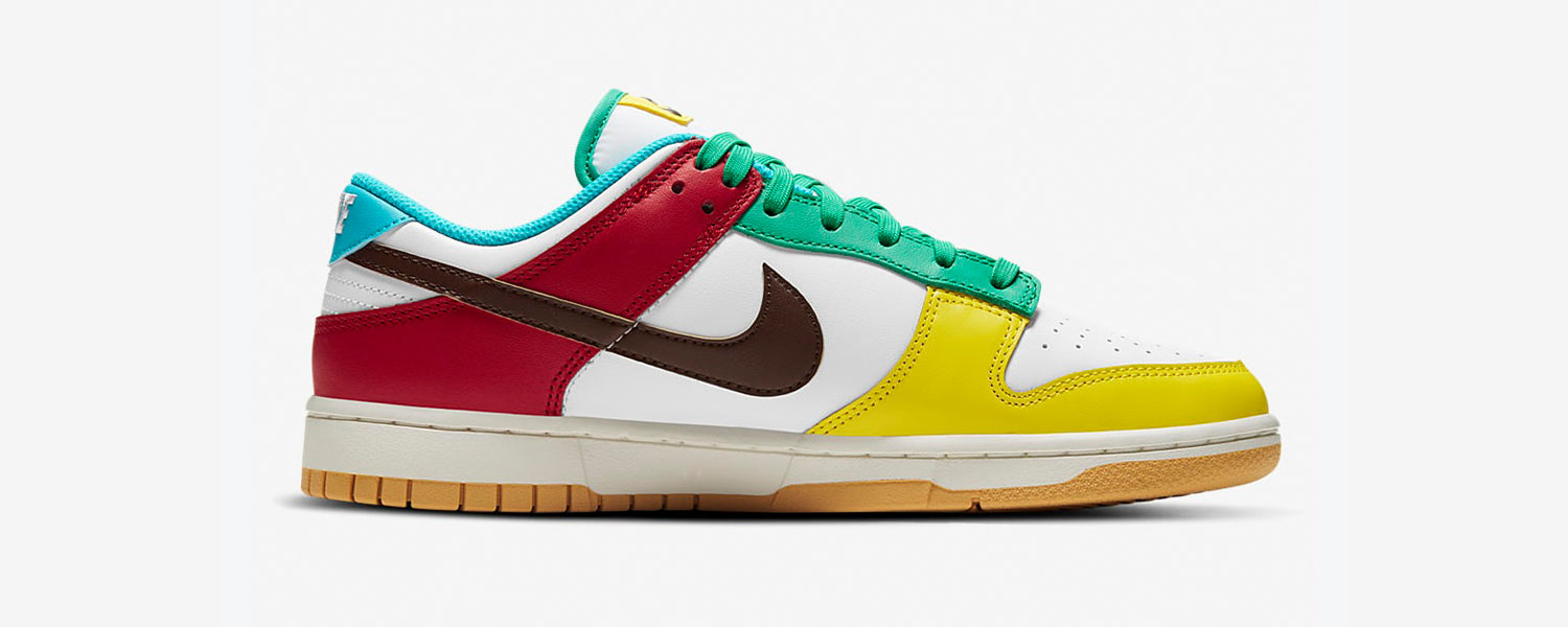 NIKE DUNK LOW FREE 99 MULTICOLOR
